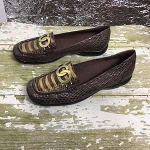 Bellini loafer leather with snakeskin